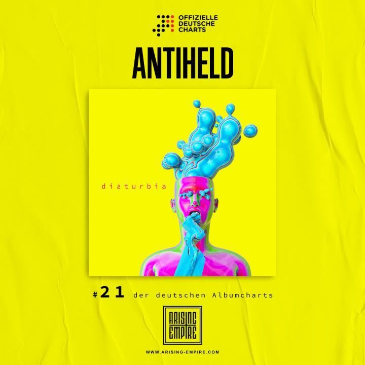 Antiheld entered charts with new album »Disturbia«
