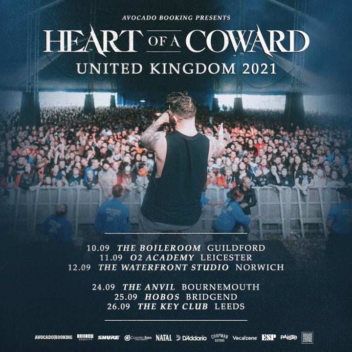 Heart Of A Coward announce UK tour