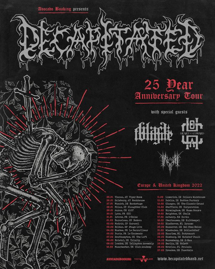 Heart Of A Coward support Decapitated on their headline tour!