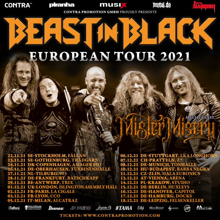 Mister Misery announce tour with Beast in Black